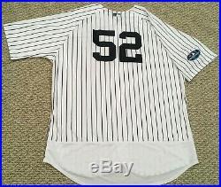 SABATHIA #52 sz 56 2018 Yankees Game Jersey ISSUED HOME POST SEASON STEINER MLB
