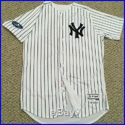 SANCHEZ #24 sz 48 2018 Yankees Game Jersey Issued HOME POST SEASON STEINER MLB