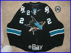 San Jose Sharks # 2 Jim Vandermeer, 13-14 Set Black Alt. Game Issued Jersey