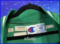 Sand Knit Game Issued NBA Joe Kleine Boston Celtics Jacket Jersey 46 + 3 90s