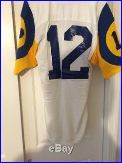 Sand Knit Los Angeles Rams Jersey Game Issued or Used # 12 Size 48