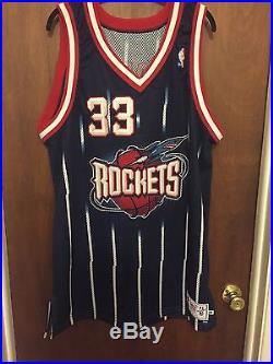 Scottie Pippen Signed Jersey Game Issued/Worn Houston Rockets Pro Cut NBA 48+2