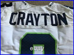 Seattle Seahawks Football Game Used Worn Team Issued Jersey Jeremy Crayton