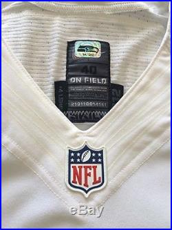 Seattle Seahawks Game Issue Jersey 2012 Season With 2013 Super Bowl Patch Nike