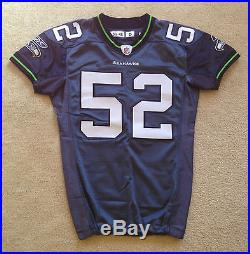 Seattle Seahawks Reebok Authentic Game Used Worn Issued Throwback Vintage Jersey