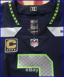 Seattle Seahawks Russell Wilson Game Used Team Issued Jersey  91ffd217a
