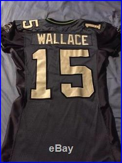 Seattle Seahawks Seneca Wallace Game Worn / game used Team Issued Jersey