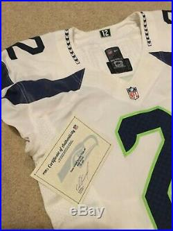 Seattle Seahawks Terrelle Pryor game used/ Issued Jersey with COA Away White