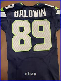 Seattle seahawks team issued/Game Cut Jersey Doug Baldwin Blue