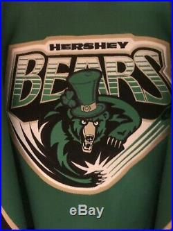 Semyon Varlamov Hershey Bears Game Issued Jersey Saint Patricks Day AHL Hockey