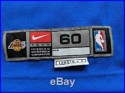 Shaquille O'Neal 1961 Hardwood classic Game issued Jersey Lakers pro cut un-worn
