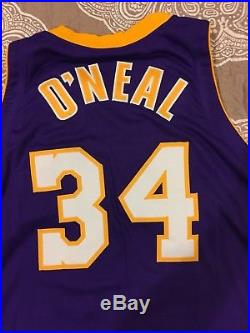 4553c4da06c Shaquille O Neal NBA Game issued pro cut Lakers 2000-01 jersey Shaq ...