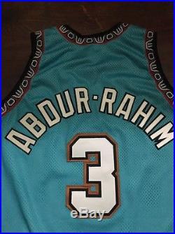 Shareef Abdur-rahim Game Issued Signed Champion Pro cut Jersey Rare! 48+3