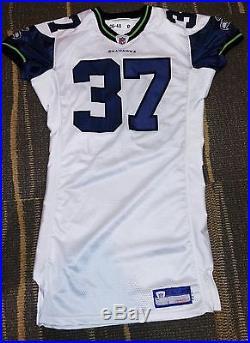 Shaun Alexander Seattle Seahawks Game Team Issued White Road Reebok Jersey
