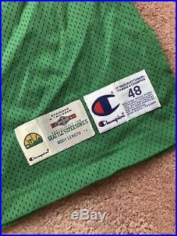 Shawn Kemp 1994-95 Seattle Sonics Game Used Issued Champion Pro Cut Jersey AUTO