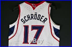 Signed Game Issue Worn Dennis Schröder HAWKS Rookie NBA Trikot Basketball Jersey