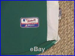 Signed Papelbon 2008 Game Worn Used Issued Red Sox Jersey Green Celtics SZ 52