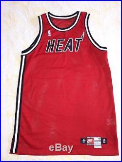 a2c42f1e34e Size 48 +4 Nba 1997-98 Miami Heat Blank Nike Pro Cut Game Issue ...