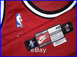 Size 48 +4 Nba 1997-98 Miami Heat Blank Nike Pro Cut Game Issue Jersey Authentic