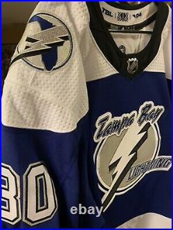 Spencer Martin Reverse Retro Game Issued Jersey Tampa Bay Lightning Stanley Cup