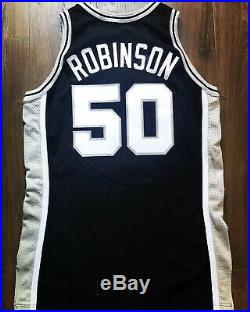 Spurs David Robinson Champion Game Pro Cut Jersey Team Issued 50th Gold Logo