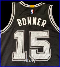 Spurs Matt Bonner Game Jersey Rev 30 Mesh NBA Champion Raptors Used Issued
