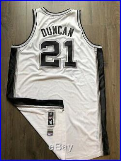 Spurs Tim Dincan Game Worn Used Issued Jersey Rev 30 Mesh Numbers