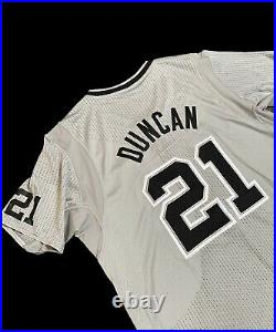 Spurs Tim Duncan 2013 Christmas Nba Champion Game Jersey Issued Used Rev30 HOF