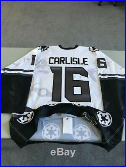 Star Wars Darth Vader Hockey Jersey- Free Shipping Evansville Icemen Game Issued
