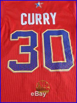Stephen Curry 2014 All Star Game Issued Jersey Pro Cut Warriors