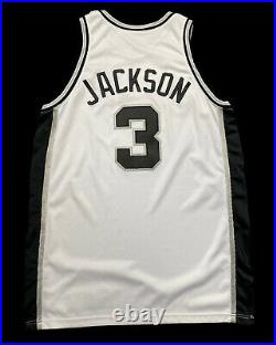 Stephen Jackson Spurs Game Issued Jersey 2001 Nike Champion Used Worn