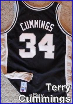 TERRY CUMMINGS San Antonio Spurs pro-cut Game Worn Team Issued Jersey