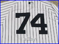 TORREYES #74 size 42 2018 Yankees Game used jersey issued HOME POST SEASON MLB