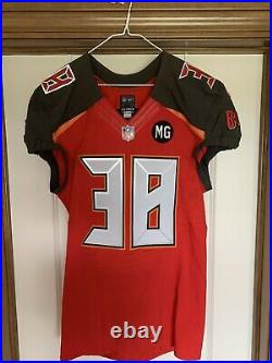 Tampa Bay Buccaneers Authentic Game Issued Worn Jersey sz 42 WithCOA