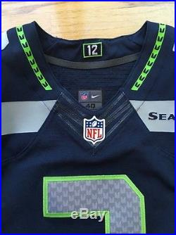 Team Issued Game Cut Seahawks Russell Wilson Nike Elite Jersey 40 Mens Small #3