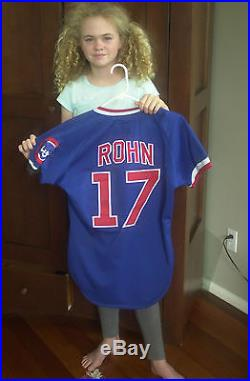 Team Issued. Game Used 1985 Chicago Cubs Dan Rohn Jersey