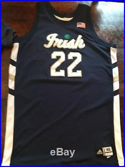 Team Issued / Game Worn Notre Dame Basketball Jersey