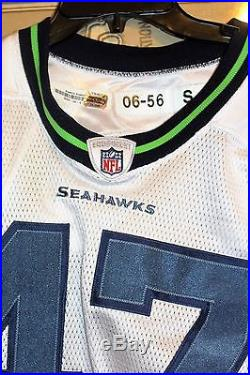 Team-Issued Reebok Seattle Seahawks #47 Zac Alcorn Jersey Could be Game Worn