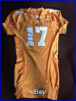 Tennessee Volunteers Team Issued Home Used Adidas Football Game Jersey