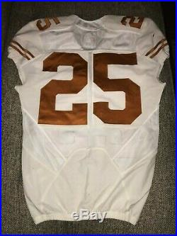 Texas Longhorns NIKE Authentic Game Worn Used Issued Jersey size 40 MACH SPEED