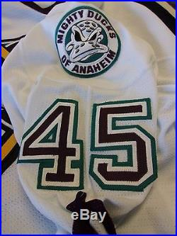 The Mighty Ducks of Anaheim Jay LeGault #45 H TC Game Issued Jersey 2000-01 P
