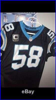 Thomas Davis Game Issued Carolina Panthers Jersey Nike RARE SIGNED