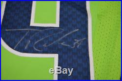 Thomas Rawls Game Issue Seahawks Jersey 2016 Rush Green Autographed TR13