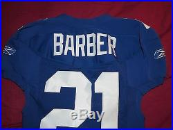 Tiki Barber 2004 New York Giants Game Issued / Used Home Jersey