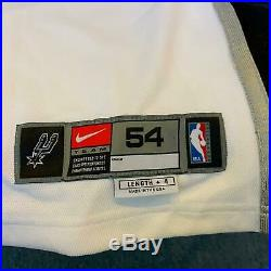Tim Duncan Signed Game Issued 2002-03 San Antonio Spurs Nike Jersey With JSA COA