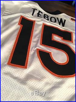 Tim Tebow Denver Broncos game worn / issued Rookie Jersey from 2010 season