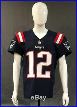 san francisco 032ad c239c Tom Brady 2018 New England PATRIOTS GAME ISSUED Color Rush ...
