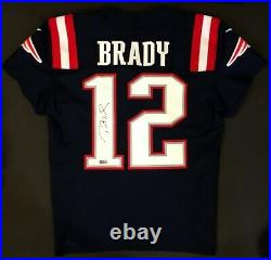 Tom Brady 2018 New England PATRIOTS GAME ISSUED Color Rush Autographed Jersey