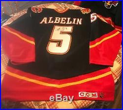 Tommy Albelin Game Issued Worn Calgary Flames Horsehead Jersey Game One Japan
