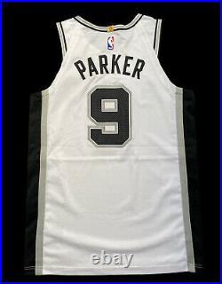 Tony Parker Spurs Game Used Issued Worn Jersey Nike NBA Champion Duncan Ginobili